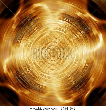 Abstract Golden Disk For Poster And Music Background