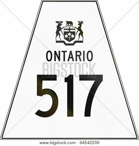 Ontario Highway Shield 517