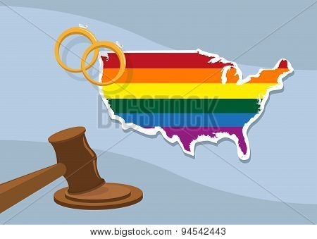 Approval of Same Sex Marriage Nationwide in US