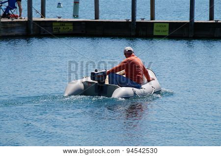 Man in Dinghy