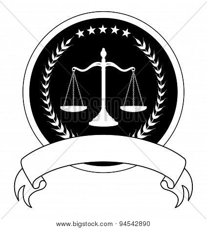 Law Or Lawyer Seal With Banner