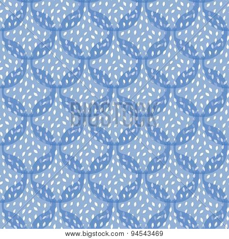 Vector Abstract Blue Pomegranate Texture Seamless Pattern