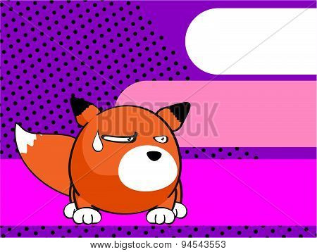 grumpy fox baby ball cartoon background