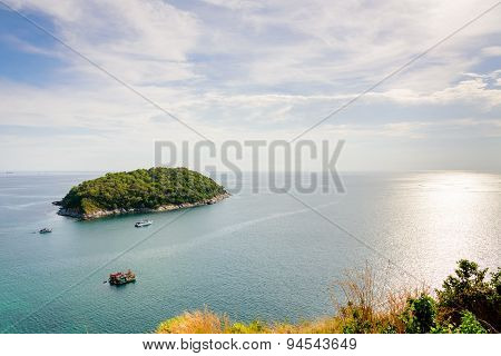 High Angle View Island And Andaman Sea