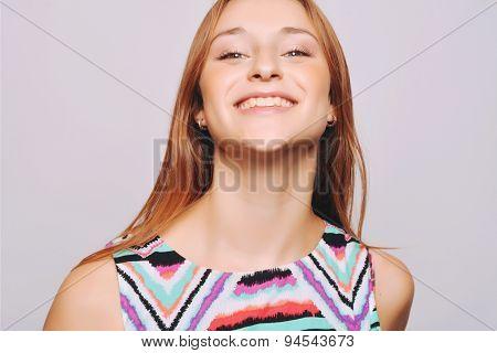 Closeup Of Young Woman Posing