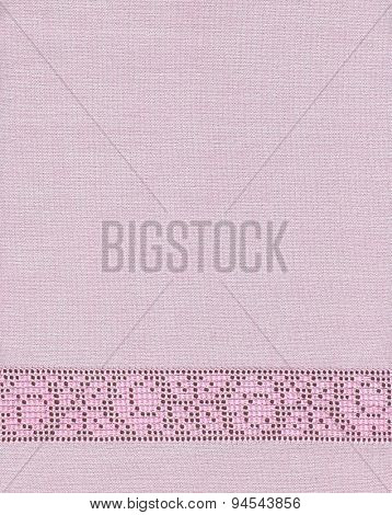 Background with embroidery, grid, floral pattern