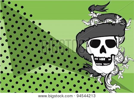 skull ornament tattoo background