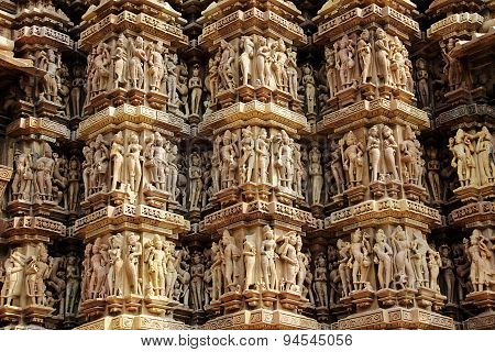Wall Carvings At Khajuraho