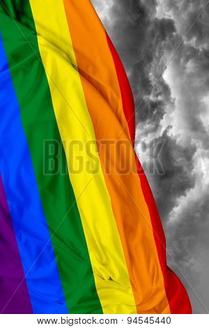 LGBT waving flag on a bad day