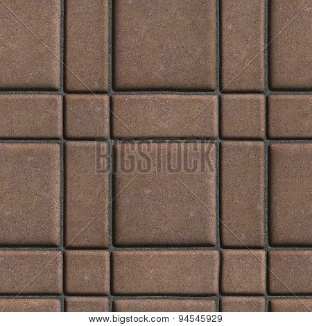 Large Quadratic Brown Pattern Paving Slabs Built of Small Squares and Rectangles.