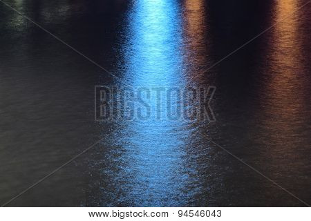 Abstract Lights Reflecting On The Water.