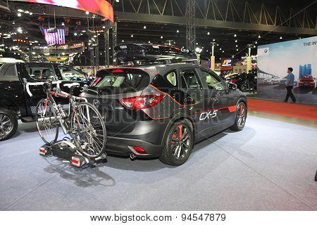 Bangkok - June 24 : Back Of Mazda Cx-5 Car On Display At Bangkok International Auto Salon 2015 On Ju