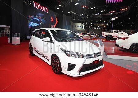 Bangkok - June 24 : Toyota Trd Modify Set Car On Display At Bangkok International Auto Salon 2015 On