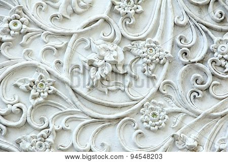 Stucco White Artificial Gem
