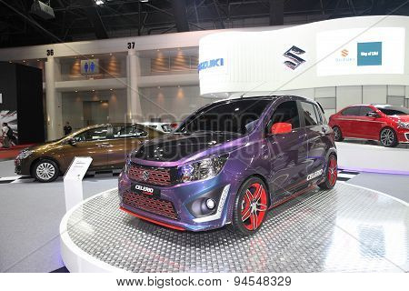 Bangkok - June 24 : Suzuki Celerio Car On Display At Bangkok International Auto Salon 2015 On June 2