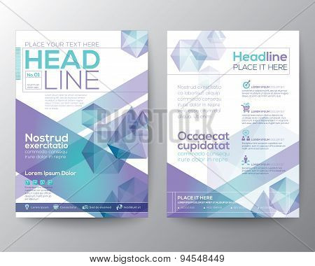 Abstract Polygon Design Vector Template Layout For Magazine Brochure Flyer Booklet Cover Annual Repo