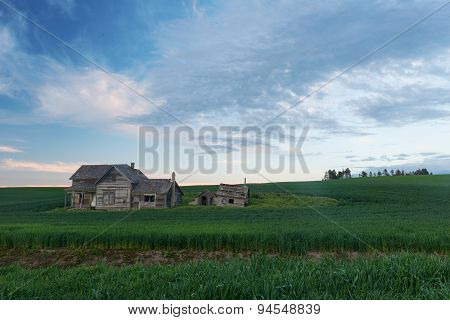 Abandoned House At Dusk
