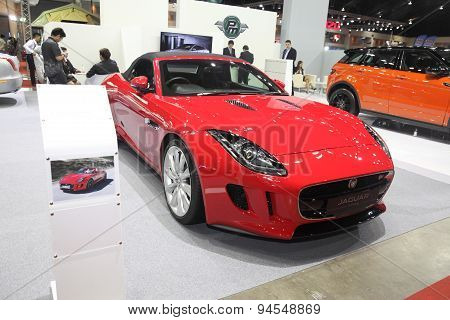 Bangkok - June 24 : Jaguar F-type Car  On Display At Bangkok International Auto Salon 2015 On June 2
