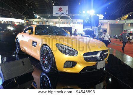 Bangkok - June 24 : Mercedes Benz Gts Car On Display At Bangkok International Auto Salon 2015 On Jun