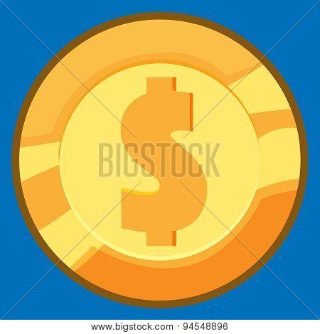 Vector Gold Coin.