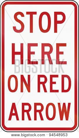 Stop Here On Red Arrow In Australia