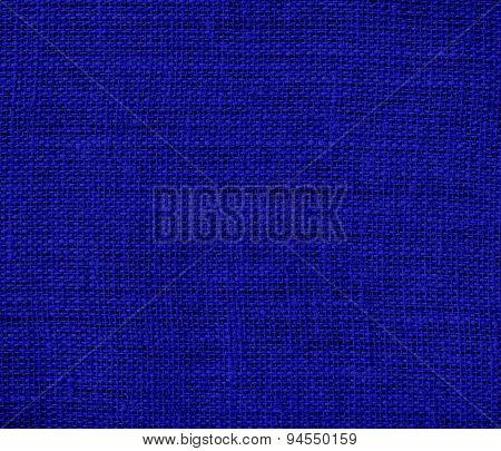 Dark blue burlap texture background