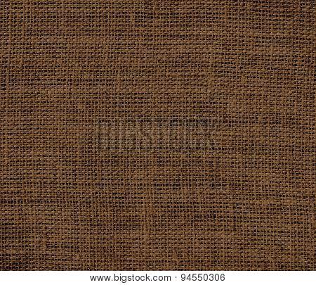 Dark brown burlap texture background