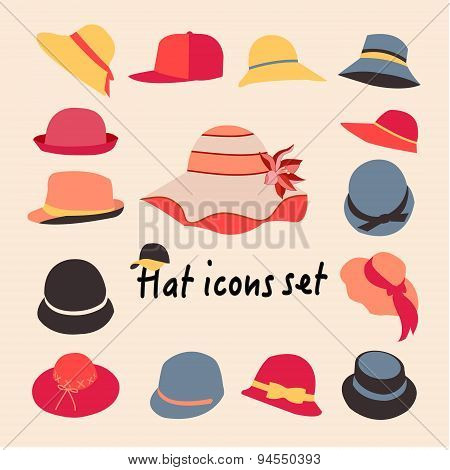 Vector Collection Of Hats For Men And Women