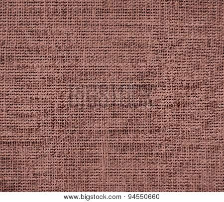 Dark chestnut burlap texture background