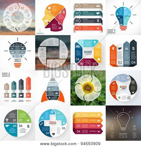 Creative arrows infographic. Template for diagram, graph, presentation and circle chart. Business co