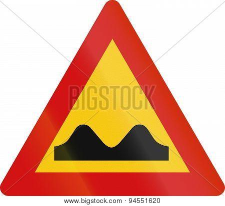 Icelandic Uneven Road Sign
