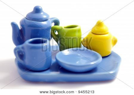 Colorful set of dishes