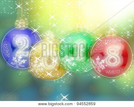 Happy New Year 2018 Glowing Background