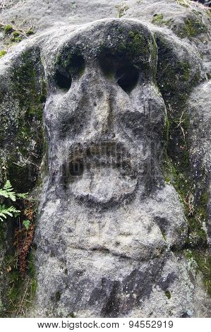 Scary Stone Head