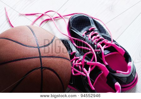 Basket Sneakers And Ball