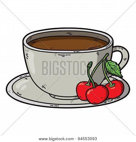 Tea cup cherry