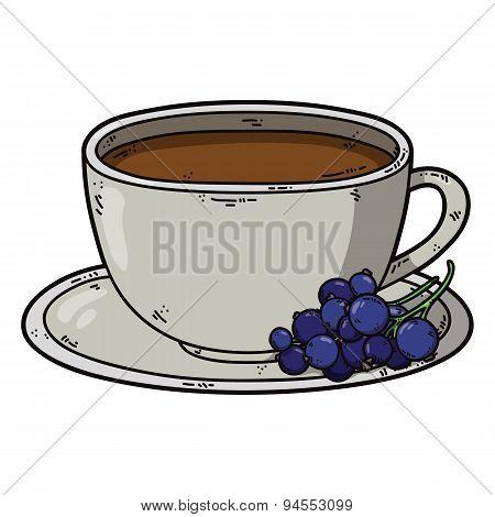 Tea cup black currant