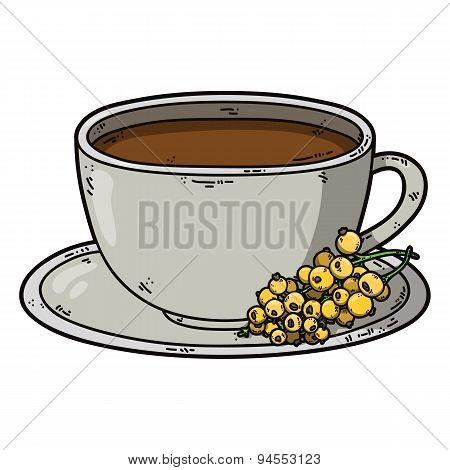 Tea cup white currant