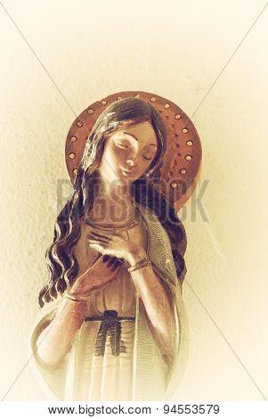 Virgin Mary Ceramic Figure