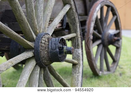 Two Carriage Wheels