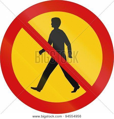 No Pedestrians In Iceland