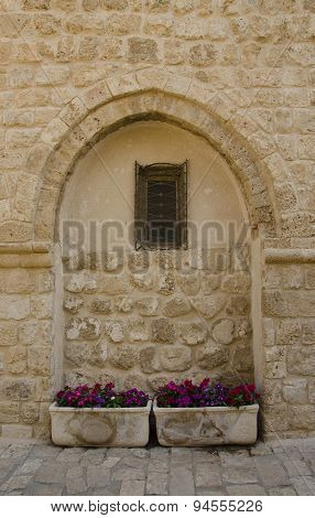 Window Of The Old Building In Jaffa