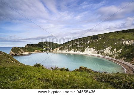 Beautiful Summer Landscape Over Lulworth Cove In England