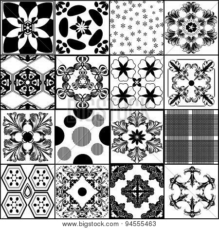 Collection From Seamless Vector Patterns In Retro Style
