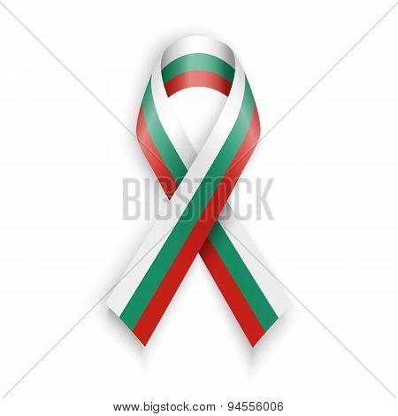 Flag Of Bulgaria. Abstract Bulgarian Ribbons