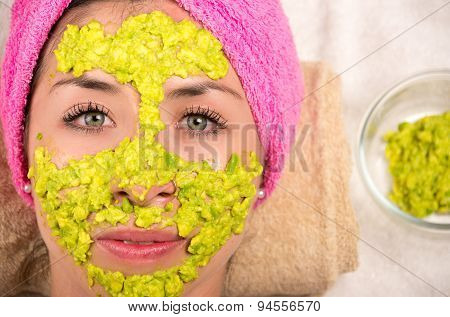 Woman facial treatment spa