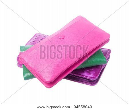 Wallet Or Purse Woman On A Background.
