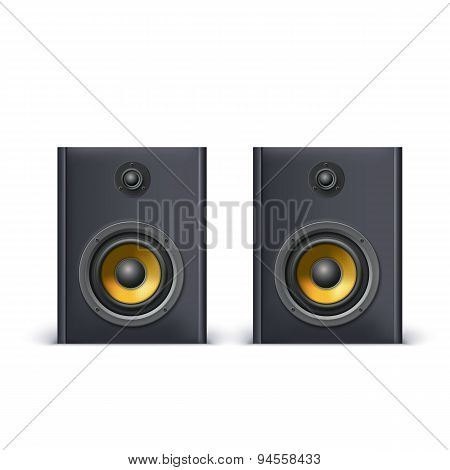 Speakers isolated on white