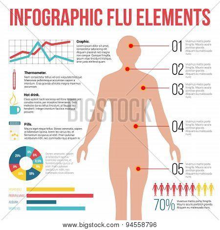 Infographic Flu elements.