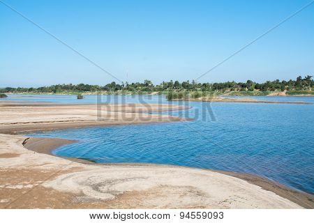 Sand Beach Of The River